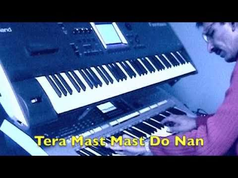 Video Tere Mast Mast Do Nain - Dabangg Piano Tutorial by Masood download in MP3, 3GP, MP4, WEBM, AVI, FLV January 2017