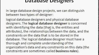 role of database designer database management system dbms tutorial - Role Of Database Designer