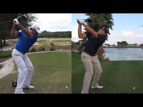 JASON DAY vs ADAM SCOTT BEST GOLF SWINGS - DRIVER SLOW MOTION 1080p HD