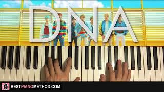Video HOW TO PLAY - BTS (방탄소년단) - DNA (Piano Tutorial Lesson) MP3, 3GP, MP4, WEBM, AVI, FLV Juli 2018