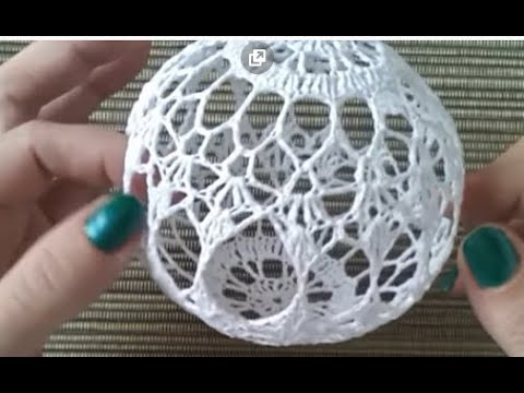 Tutorial Crochet Navidad 2018 Adornos Bola 1(subtitles Several Lenguage)