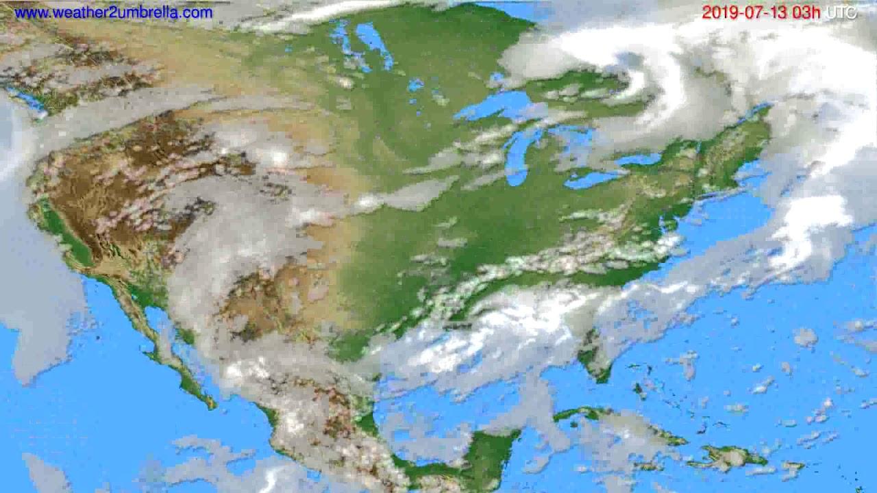 Cloud forecast USA & Canada // modelrun: 00h UTC 2019-07-10