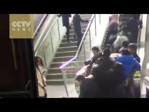 Escalera mecánica china fail