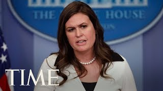 The new Press Secretary Sarah Huckabee Sanders will be delivering a White House press briefing Wednesday afternoon.Subscribe to TIME ►► http://po.st/SubscribeTIME Get closer to the world of entertainment and celebrity news as TIME gives you access and insight on the people who make what you watch, read and share.https://www.youtube.com/playlist?list=PL2EFFA5DB900C633F Money helps you learn how to spend and invest your money. Find advice and guidance you can count on from how to negotiate, how to save and everything in between.https://www.youtube.com/playlist?list=PLYOGLpQQfhNKdqS_Wccs94rMHiajrRr4W Find out more about the latest developments in science and technology as TIME's access brings you to the ideas and people changing our world.https://www.youtube.com/playlist?list=PLYOGLpQQfhNIzsgcwqhT6ctKOfHfyuaL3 Let TIME show you everything you need to know about drones, autonomous cars, smart devices and the latest inventions which are shaping industries and our way of livinghttps://www.youtube.com/playlist?list=PL2862F811BE8F5623 Stay up to date on breaking news from around the world through TIME's trusted reporting, insight and accesshttps://www.youtube.com/playlist?list=PLYOGLpQQfhNJeIsW3A2d5Bs22Wc3PHma6CONNECT WITH TIMEWeb: http://time.com/Twitter: https://twitter.com/TIMEFacebook: https://www.facebook.com/time Google+: https://plus.google.com/+TIME/videosInstagram: https://www.instagram.com/time/?hl=enMagazine: http://time.com/magazine/Newsletter: time.com/newsletterABOUT TIMETIME brings unparalleled insight, access and authority to the news. A 24/7 news publication with nearly a century of experience, TIME's coverage shapes how we understand our world. Subscribe for daily news, interviews, science, technology, politics, health, entertainment, and business updates, as well as exclusive videos from TIME's Person of the Year, TIME 100 and more created by TIME's acclaimed writers, producers and editors. Press Secretary Sarah Huckabee Sanders Delivers Briefing Discussing Education & Sessions  TIMEhttps://www.youtube.com/user/TimeMagazine