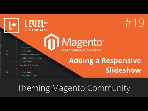 Magento Tutorials 43 (Community) – Theming Magento 19 – Adding a Responsive Slideshow