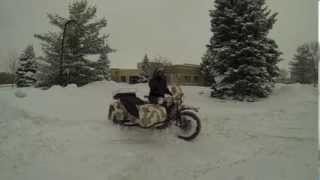 9. GOPRO Ural gear-up in the snow (Canada)