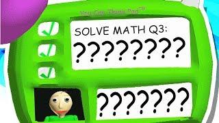 ANSWER TO BALDI'S 3rd QUESTION!!! (Baldi's Basics Mod)