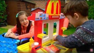 Video McDonald's Drive Thru Kids Fun Pretend Play Toy Kitchen Set MP3, 3GP, MP4, WEBM, AVI, FLV Januari 2018