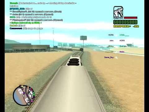 Wyścig w GTA San Andreas: tramwaj i pociąg