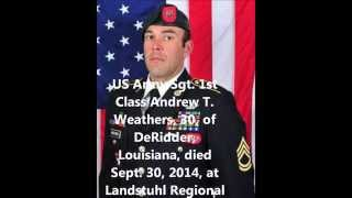 Deridder (LA) United States  city images : Tribute To Our Fallen Soldiers - US Army Sgt. 1st Class Andrew T. Weathers, 30, of DeRidder, LA.