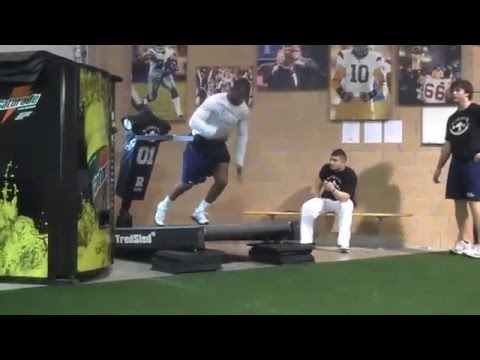 defranco's - Here was the workout our NFL Pro Day guys performed today... 1) Submaximal Box JUMPS: 5 x 2-5 2) Resisted, Incline TredSled SPRINTS: 5 x 5sec. 3) Trap Bar DL...