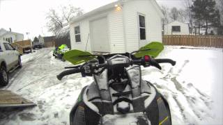 9. 2012 Arctic Cat F800 Sno Pro with D&D can small test run (walk around)