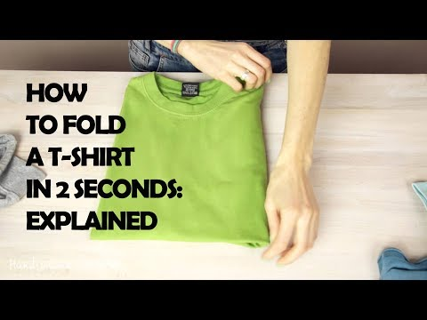 Folding a T-shirt in Two Seconds.