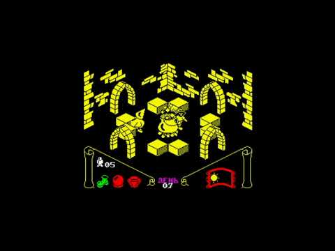 Knight Lore (1984) 128k AY music version Walkthrough + Review, ZX Spectrum