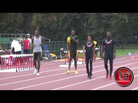 Usain Bolt Passes Justin Gatlin In Training