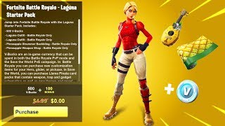 How To Get The LAGUNA STARTER PACK for FREE in Fortnite...