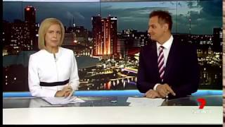 Oops. Jessica Adamson unhappy on 7 Adelaide news.