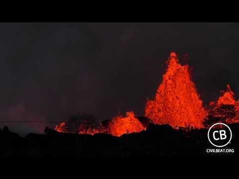 Live Video: Kilauea Lava Flow Activity In Lower Puna Hawaii (видео)