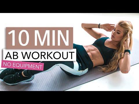 10 MIN AB WORKOUT // No Equipment   Pamela Reif