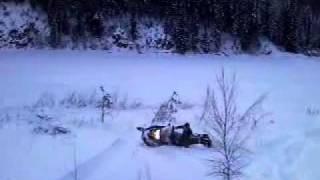 6. Jumps on ski doo skandic suv 600 part1