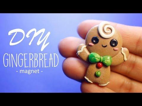 DIY Gingerbread Man Magnet