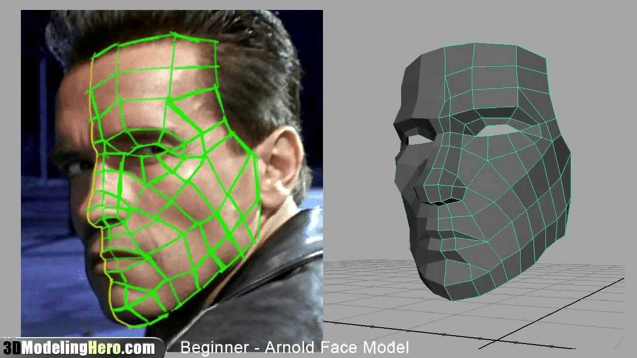 modeling face 3d maya tutorial