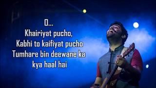 Video Khairiyat Lyrics ( Sad ) | Chhichhore | Arijit Singh | Amitabh B | Sushant , Shraddha |  Pritam | download in MP3, 3GP, MP4, WEBM, AVI, FLV January 2017