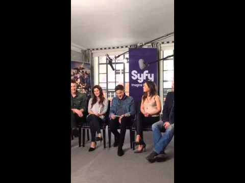 The cast of Dominion on Periscope