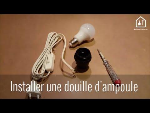Conseil bricolage : Comment installer une douille d'ampoule ? Bricolage Facile