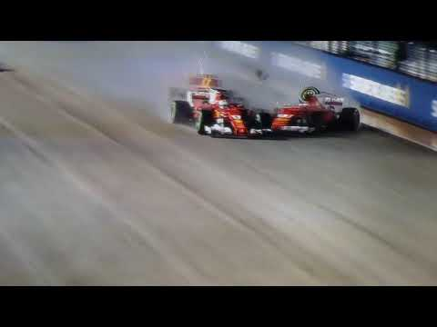 singapore, incidente vettel, raikkonen e verstappen