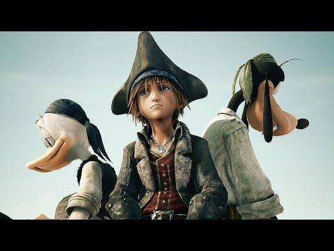 Pirates of The Caribbean Full Movie Cutscenes - Jack Sparrow Kingdom Hearts 3