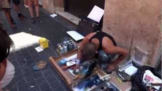 Amazing Artist On The Streets Of Rome