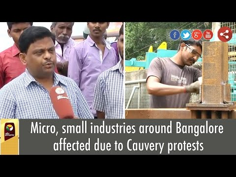 Micro-small-industries-around-Bangalore-affected-due-to-Cauvery-protests
