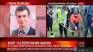 24 Kasım Öğretmenler Günü İçin Fidan Dikimi - Cnn Türk
