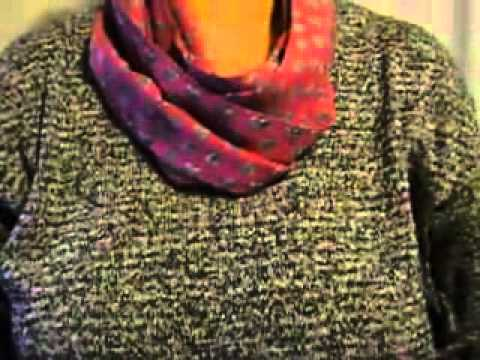 RadmilaRada7 zeigt – 3 Beispiele wie man einen Loopschal tragen kann
