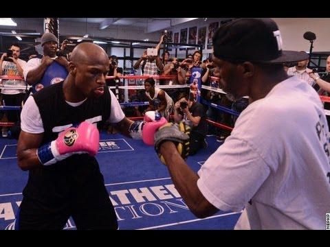 Floyd Mayweather Complete Mitt Workout UNEDITED (видео)