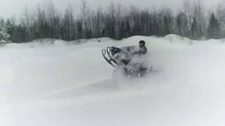 8. Ski-Doo Expedition Xtreme Jumping in deep snow