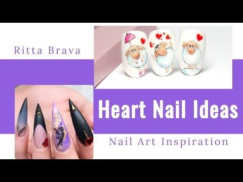 Heart Nail Ideas - Valentines Day 2019 Nail Designs