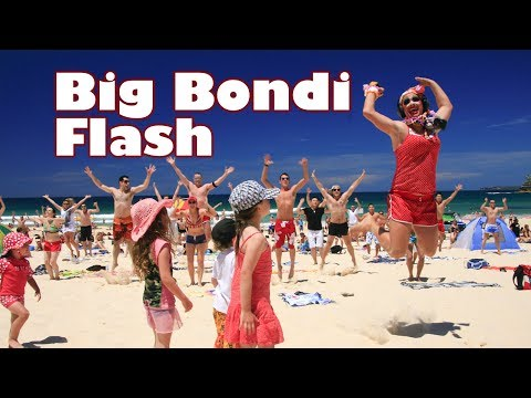 flash mob - Over 100 dancers surprised Bondi Beach with a Flash Mob on Sat Nov 14th 2009, organised by DJ Dan Murphy and starring one of Australia's most famous & delici...