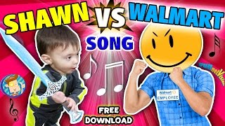 """BABY SHAWN vs. WALMART!  Kids Rap Song """"Touch & Rhyme"""" Challenge (FUNnel Vision Music Video Vlog)"""