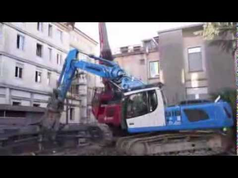 La distruzione del padiglione Vedani