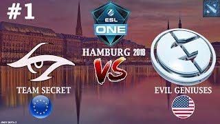 ПУПЕЙ против S4! | Secret vs EG #1 (BO2) | ESL One Hamburg 2018