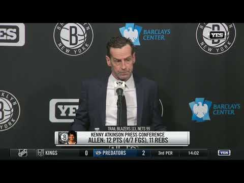 Video: Kenny Atkinson reacts to Nets' loss to Portland
