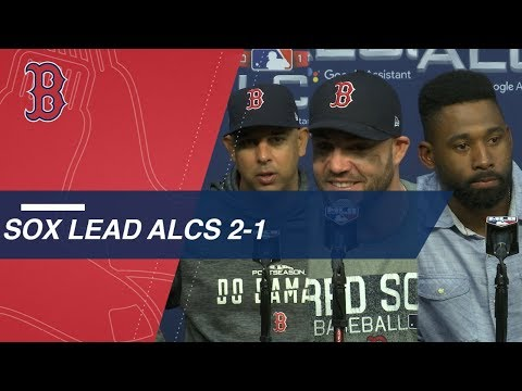Video: ALCS Gm3: Cora, Red Sox on the team's ALCS Game 3 win