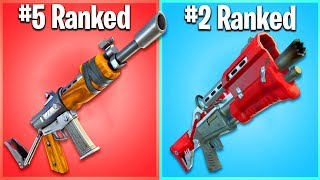 RANKING THE WORST FORTNITE WEAPONS FROM WORST TO BEST