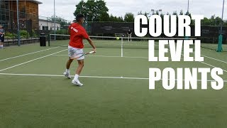 This video shows The Tennis Dream playing a set against his hitting partner from a court level view where you can clearly see everything that goes on in this match. He also commentates over the match as it it is progressing to explain the things that are going through his head at the time in order for the viewer to get a more in depth experience of the match itself.http://www.instagram.com/thetennisdream/http://www.facebook.com/thetennisdream/