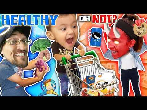 SHAWN GOES GROCERY SHOPPING!  Healthy or Not Vision (FUNnel Fam Vlog)