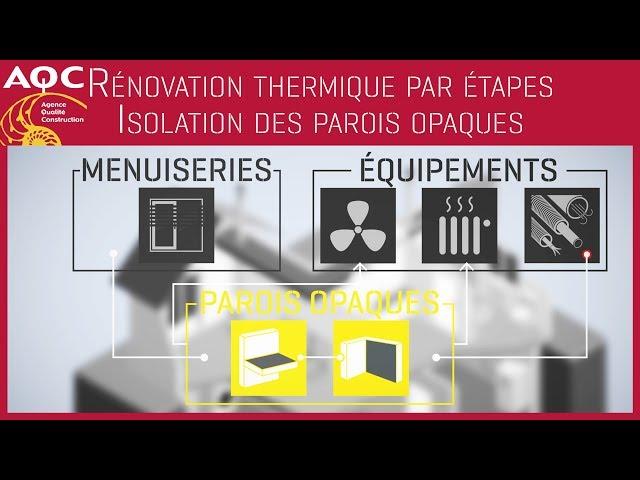 Rénovation thermique performante par étapes - Isolation des parois opaques - AQC
