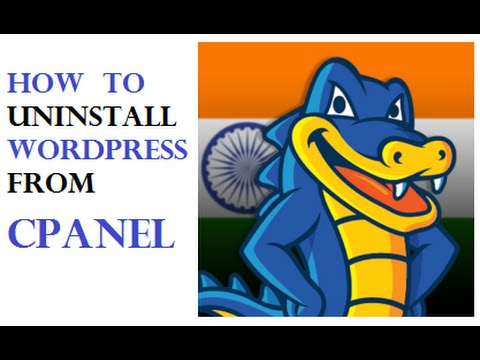 how to remove cpanel