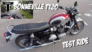 8. Triumph Bonneville T120 test ride